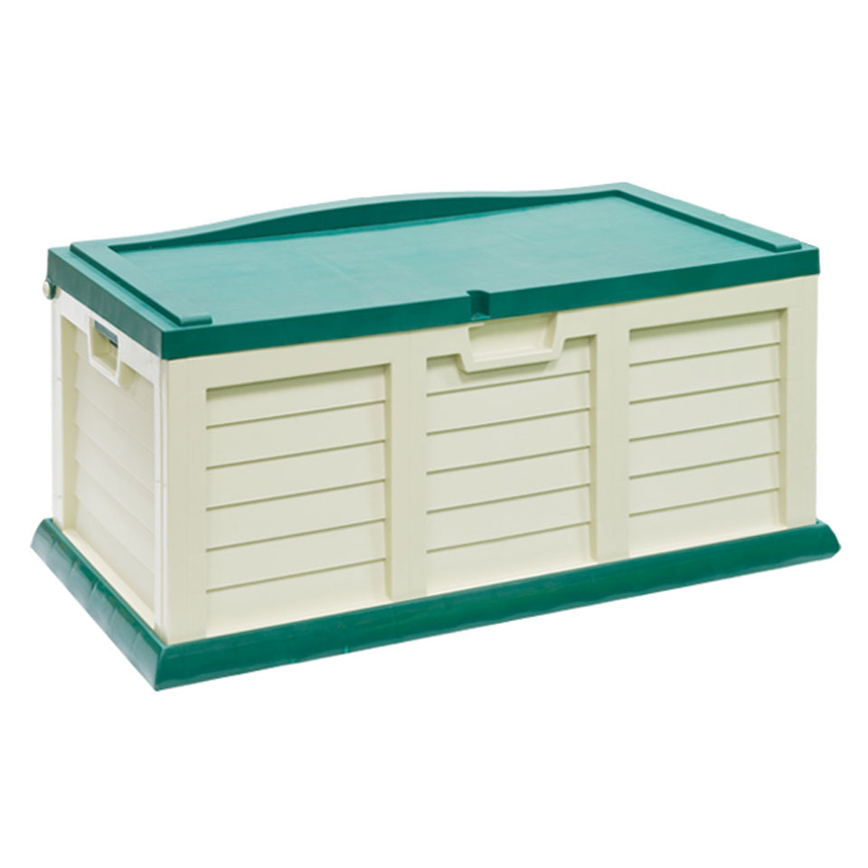 Medium Green & Cream Garden Cushion Storage Chest & Bench