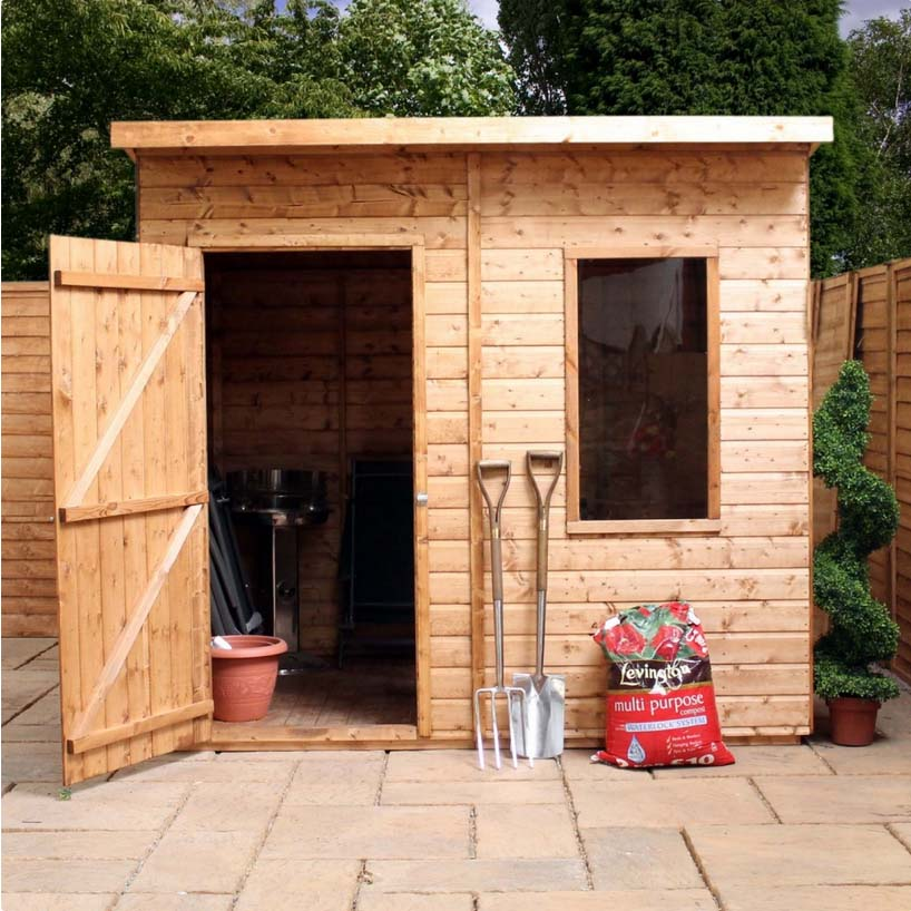 8x6 - Premium Shiplap Curved Roof (Aero) Shed