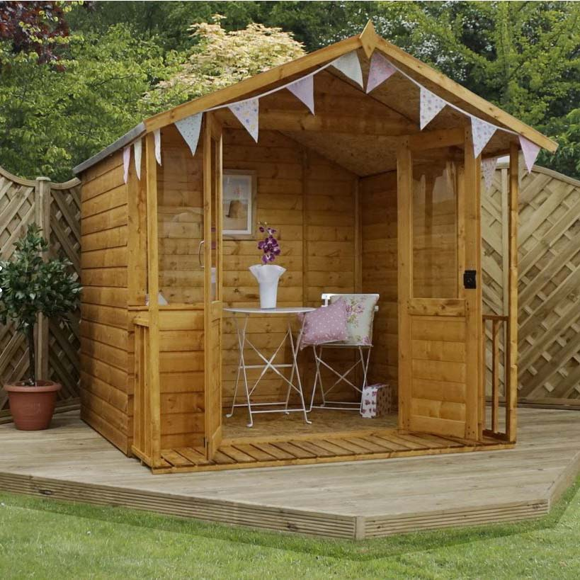 7x7 - Traditional Summerhouse With Veranda