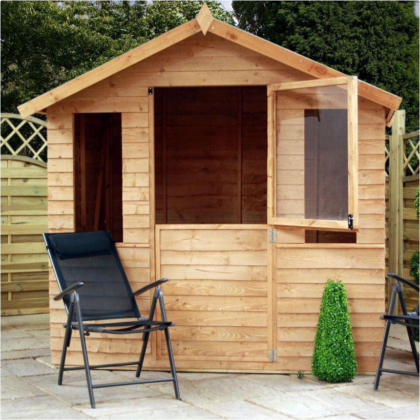 7x5 - Overlap Summerhouse with Stable Door