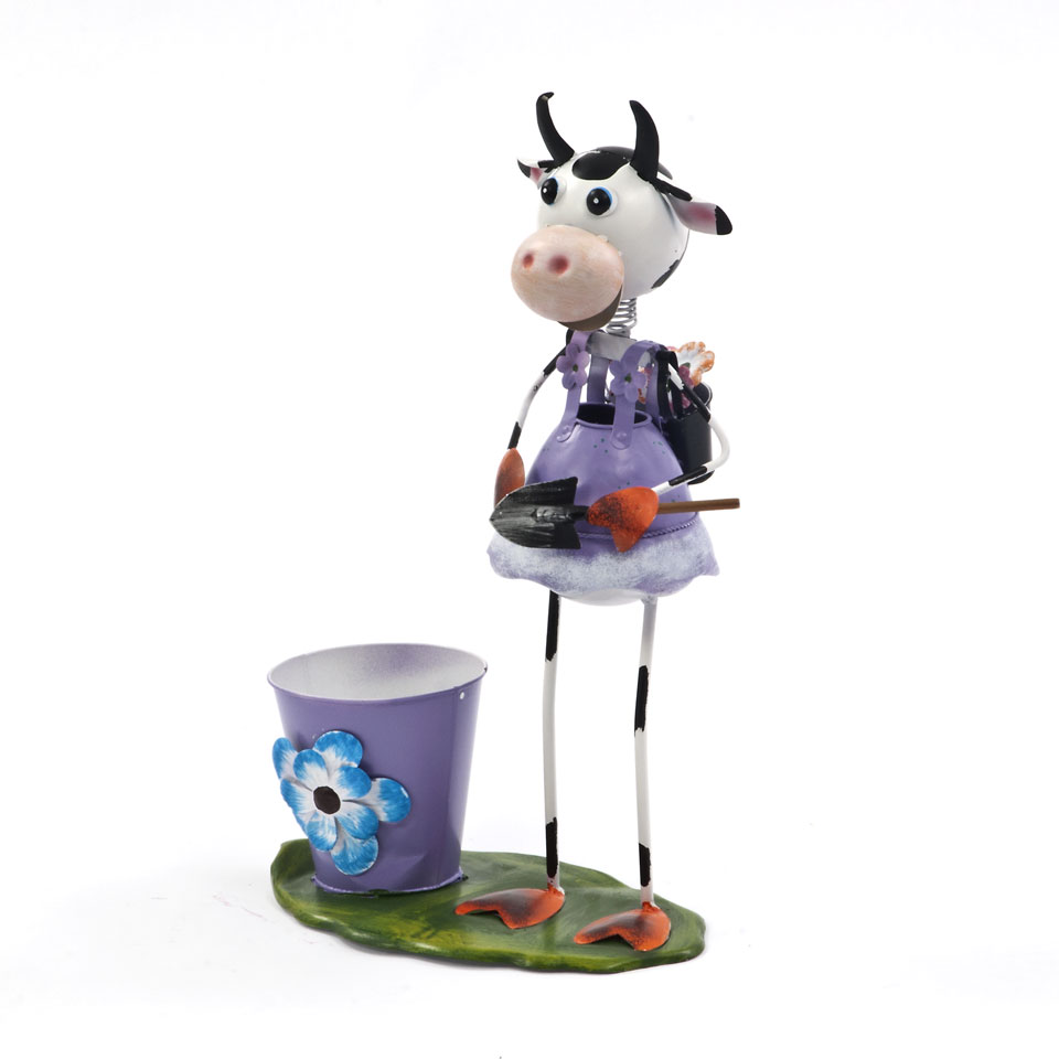 Honeysuckle Cow & Pail Planter