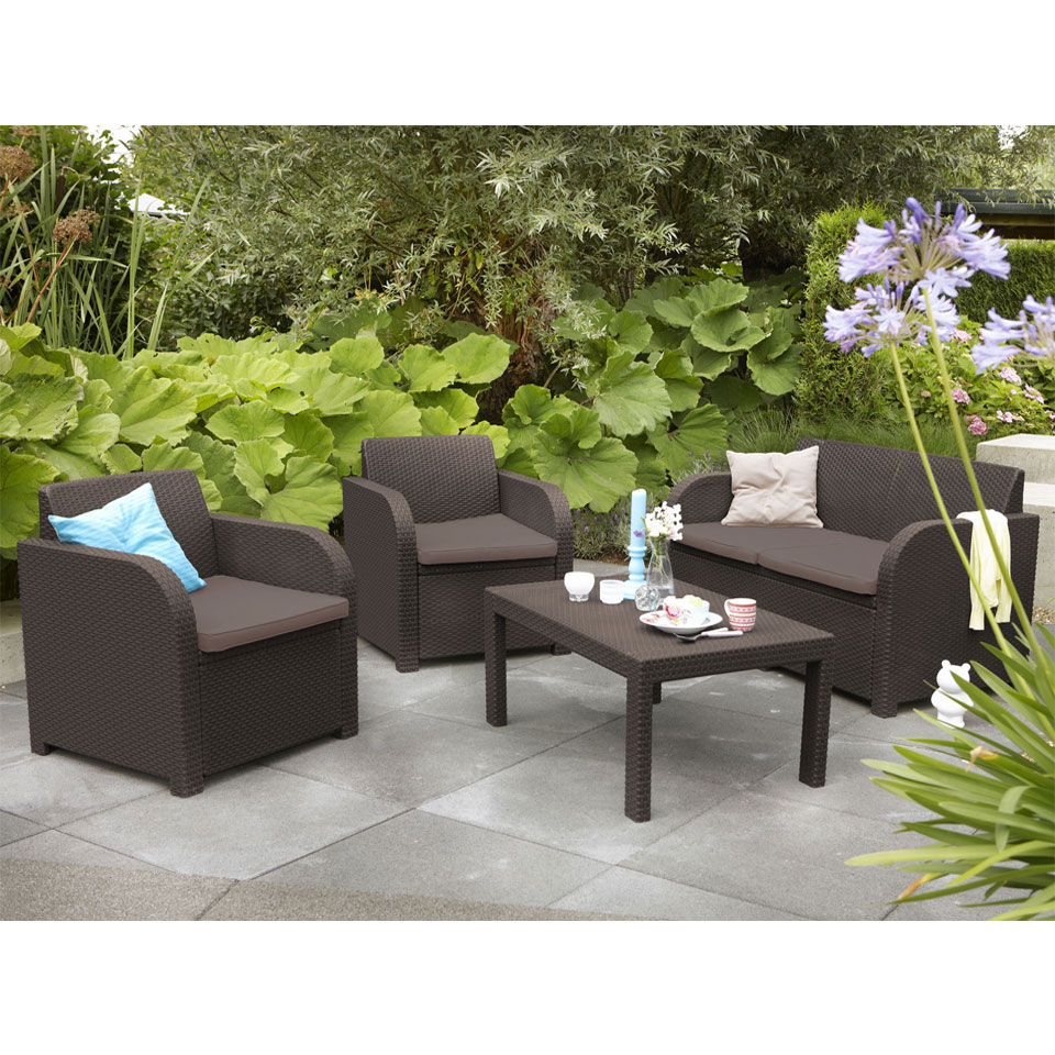 Allibert Montpellier Brown Garden Entertaining Set