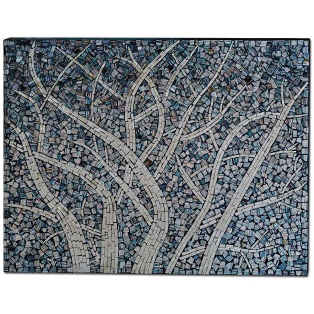 Mosaic Glass Winter Tree Wall Art