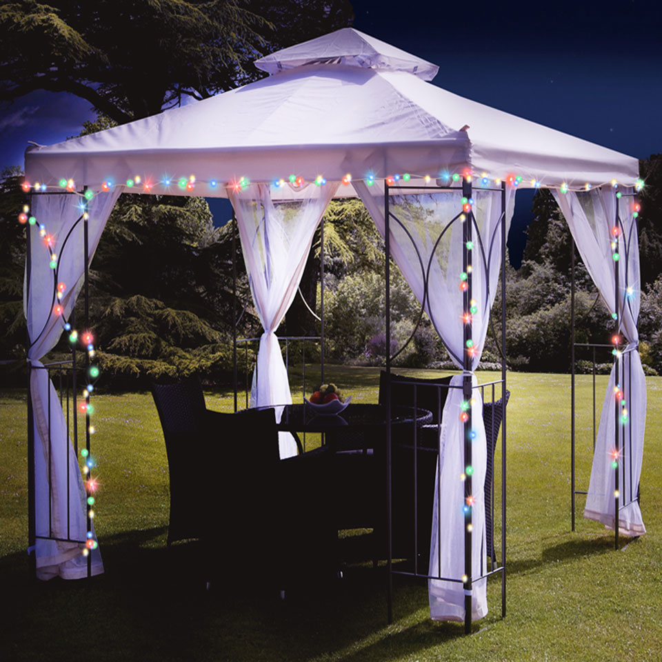 Solar Gazebo Lights Of 50 multicoloured solar
