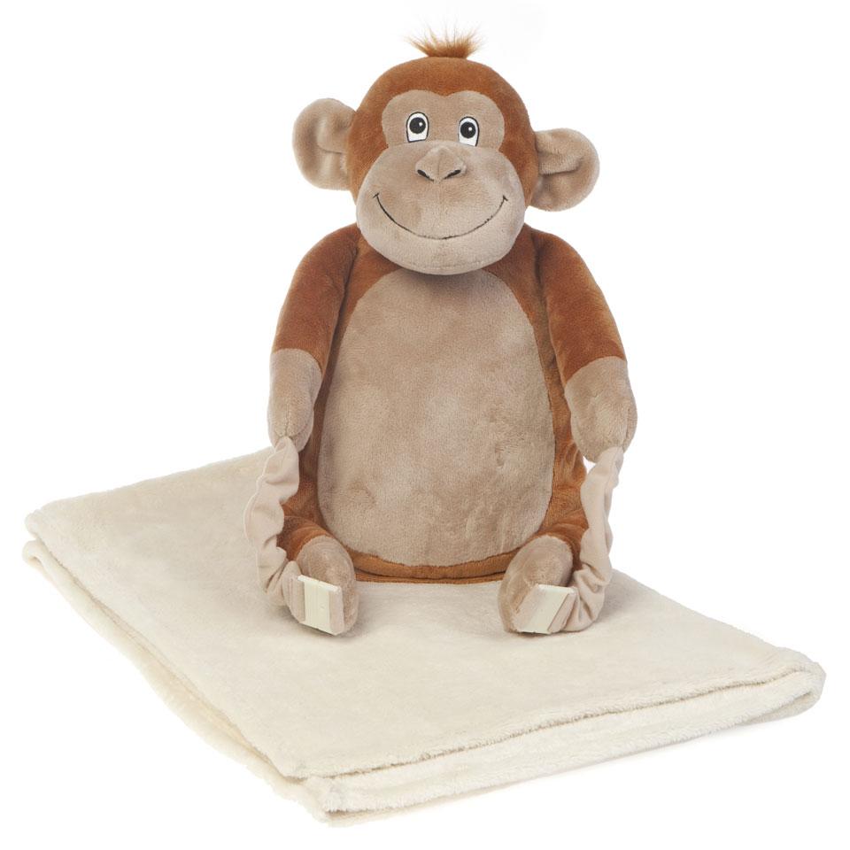 Bobo Buddies Mungo The Monkey Blanket Backpack