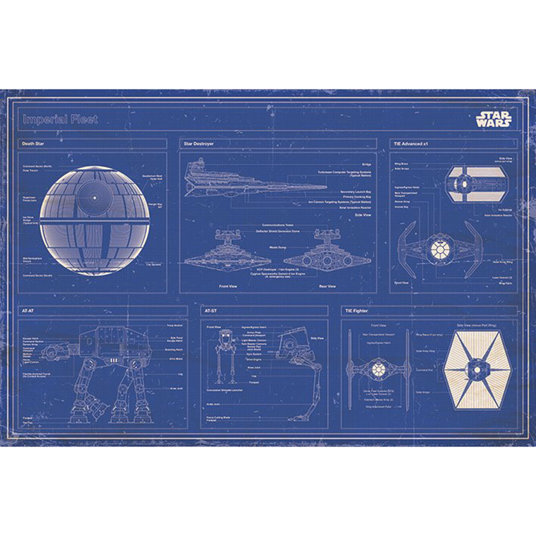 Star Wars Imperial Fleet Blueprint Maxi Poster