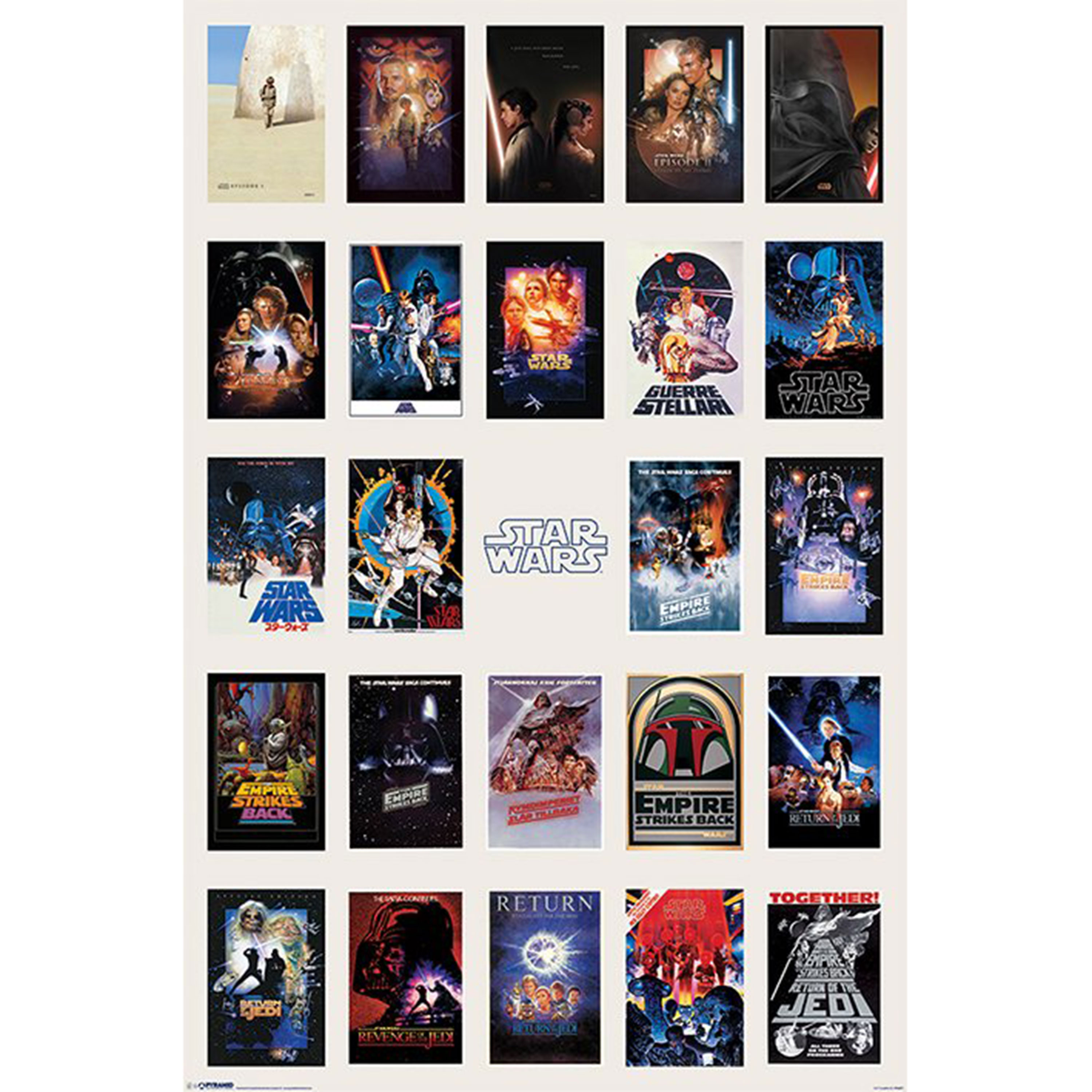 Star Wars Movie Poster Collage Maxi Poster