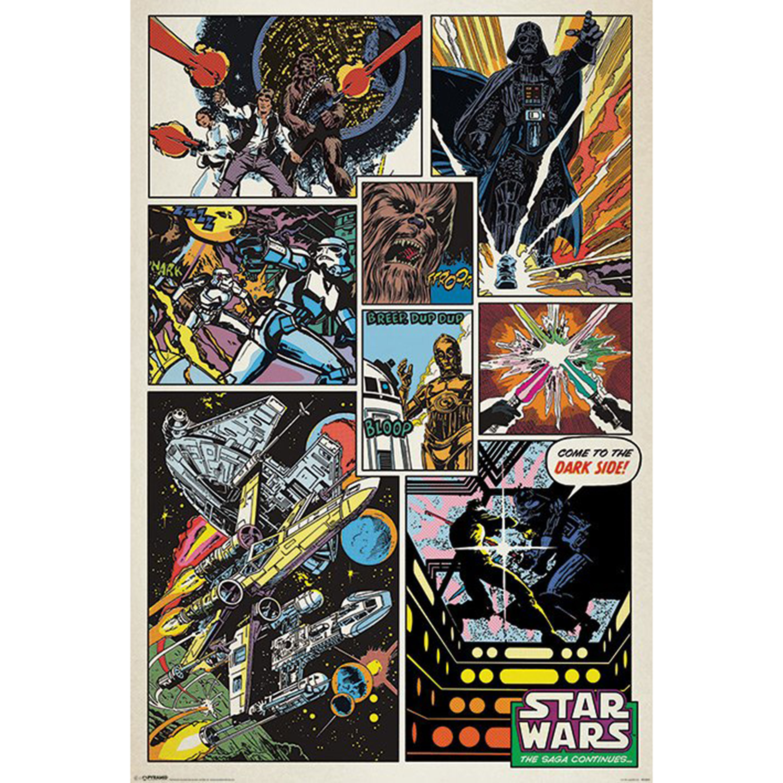 Star Wars Retro Comic Maxi Poster