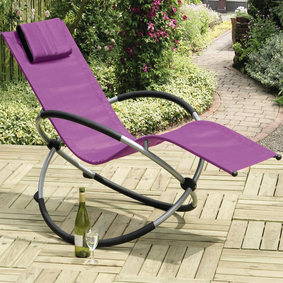 Orbit Purple Relaxing Rocking Chair