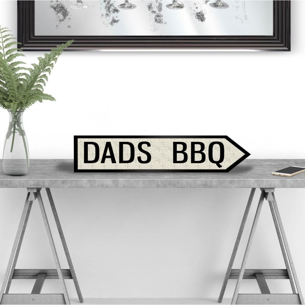 Image of Dads BBQ Vintage Road Sign