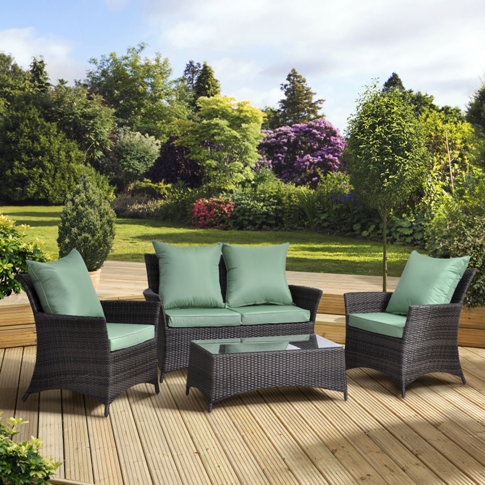 Paris Rattan Lounge Set with Cushions