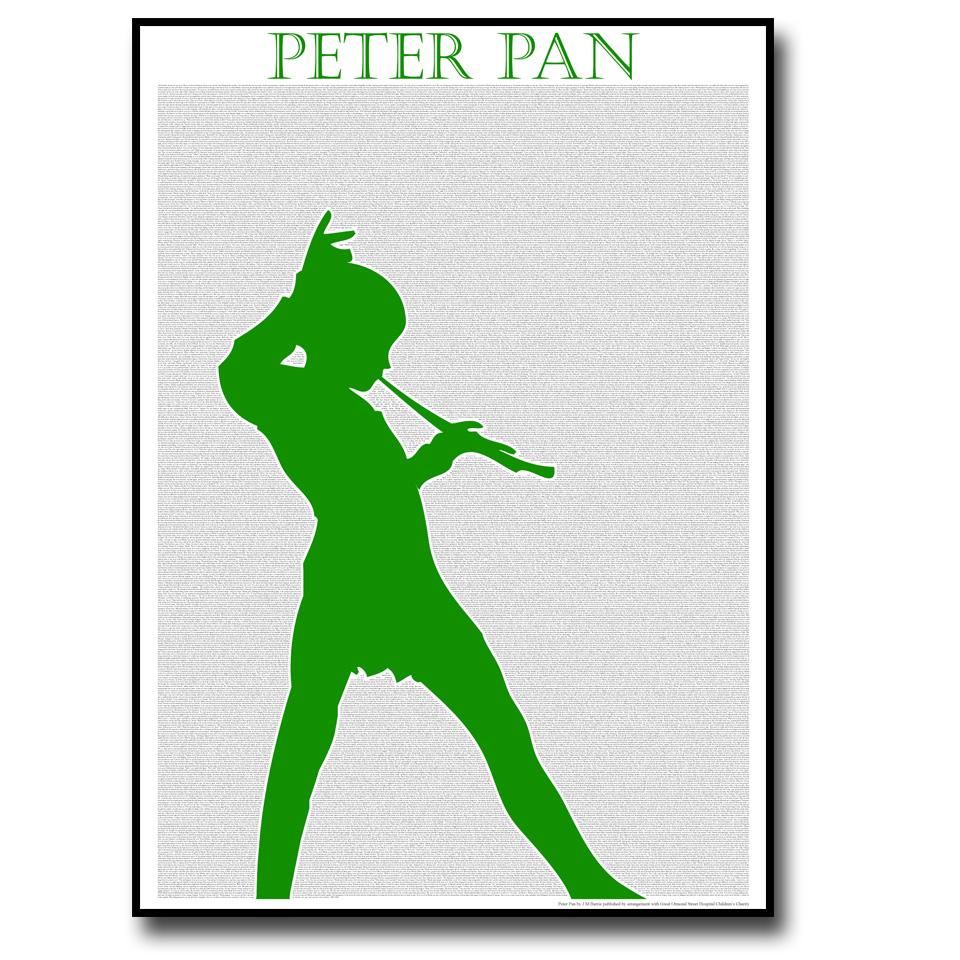 Peter Pan Text Wall Print