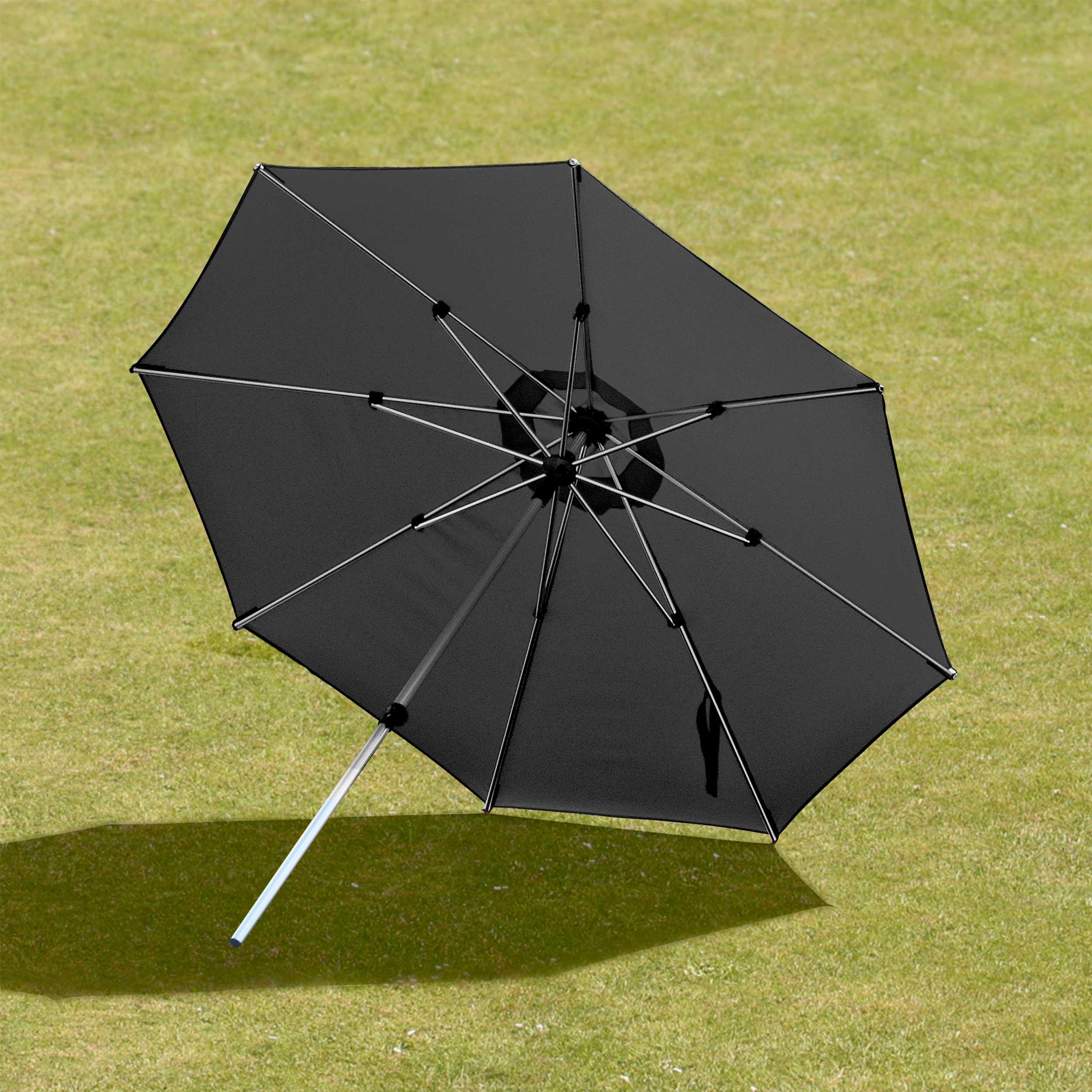 Suntime 2m Milano Black Pushup Outdoor Parasol