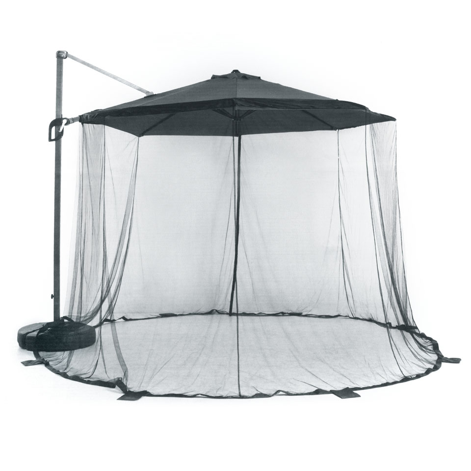 Black Mosquito Net Curtain for 3m Suntime Hanging Parasols