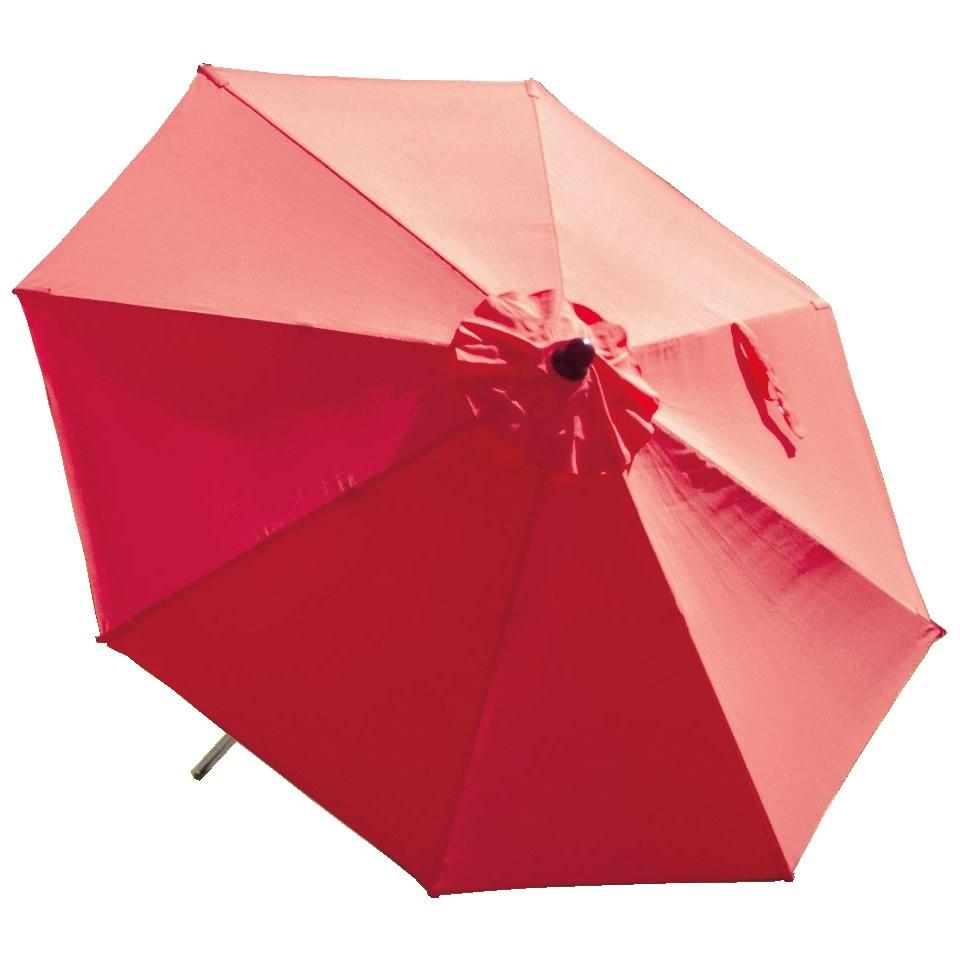 Suntime 2.7m Red MarketStyle Wooden Garden Parasol