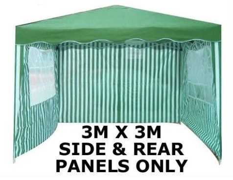 Image of 3x3m Panels 3 Piece For Gazebo Green