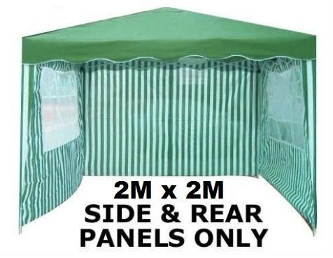 Image of 2 x 2m Green Panels 3 Piece For Gazebo
