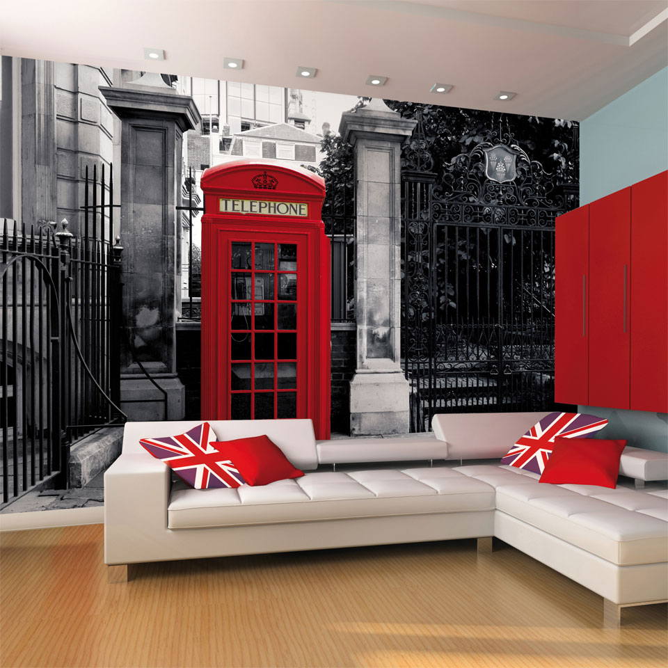 Classic British Red Phone Box Wallpaper Mural