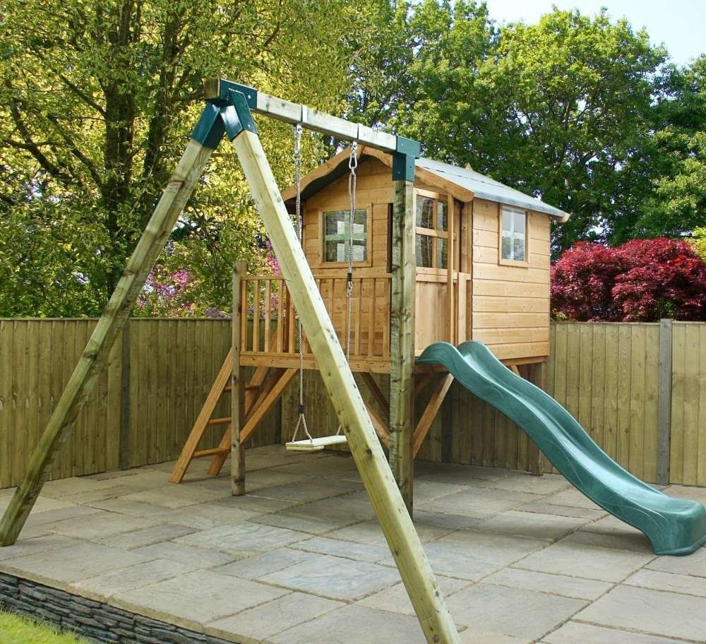 Poppy Playhouse with Tower, Slide and Activity Set