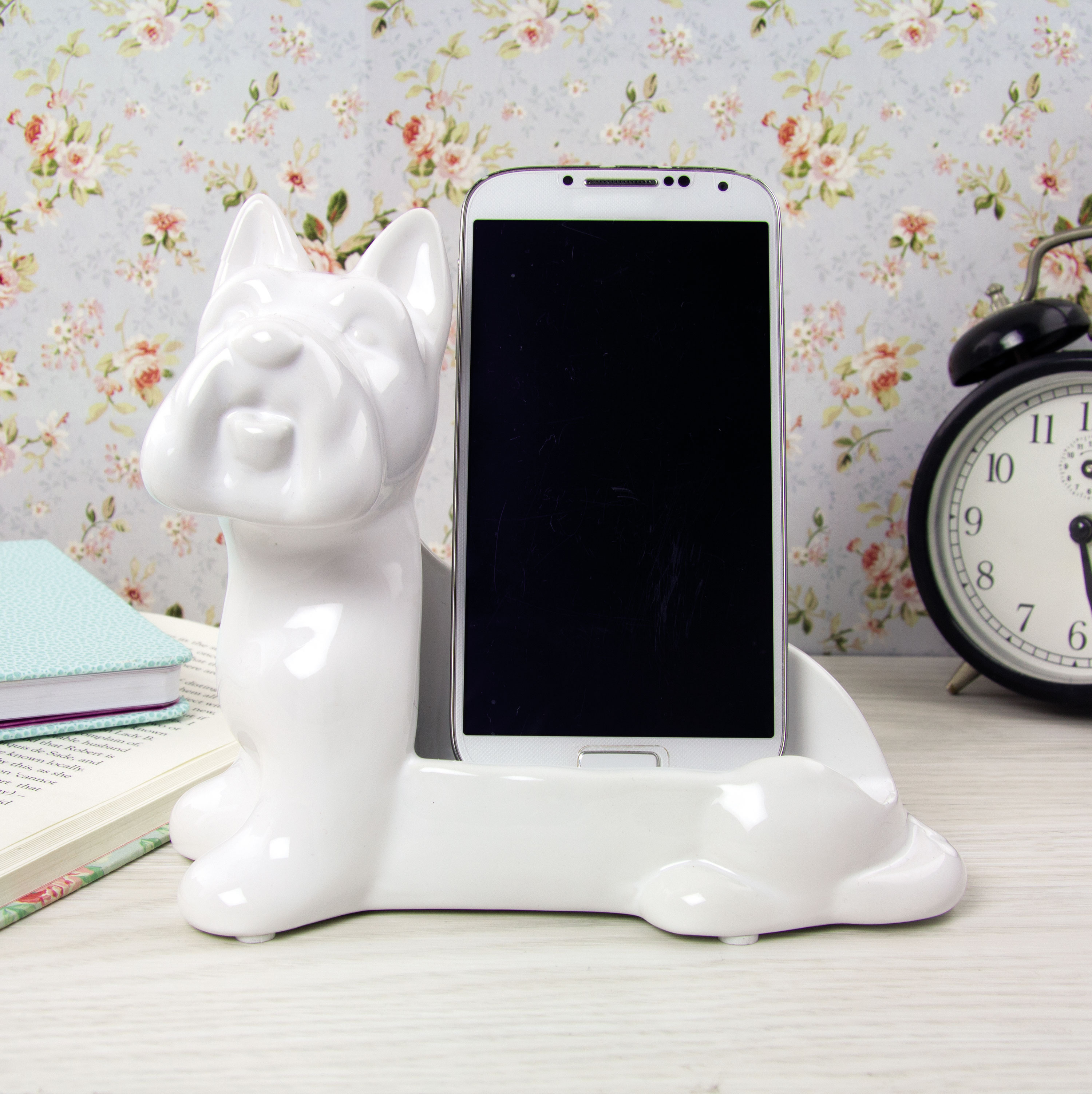 Dog & Bone Ceramic Phone Stand