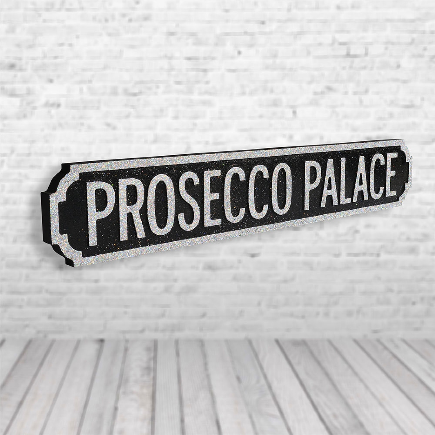 Image of Prosecco Palace Vintage Road Sign