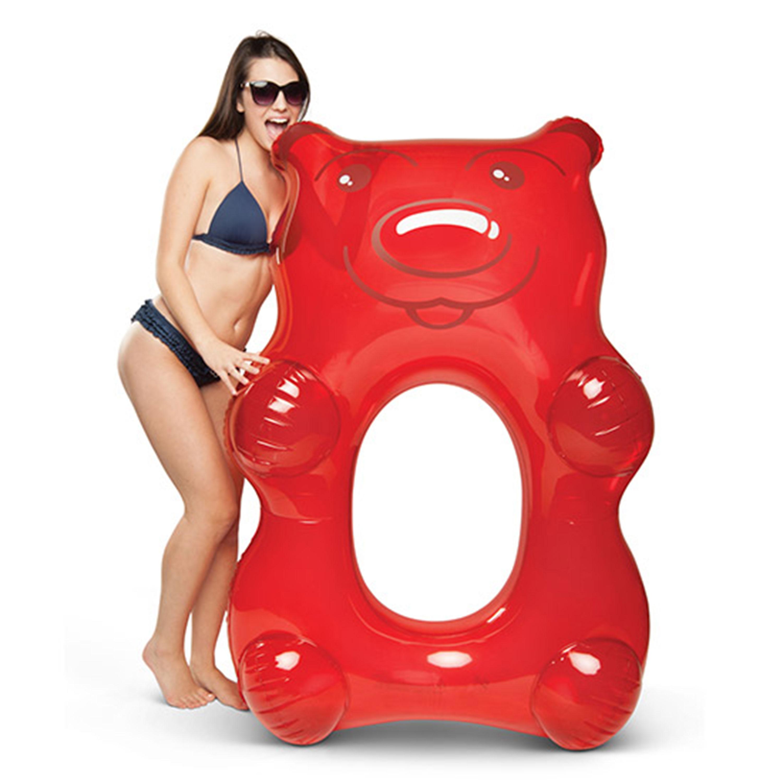 Giant Red Gummy Bear Pool Float