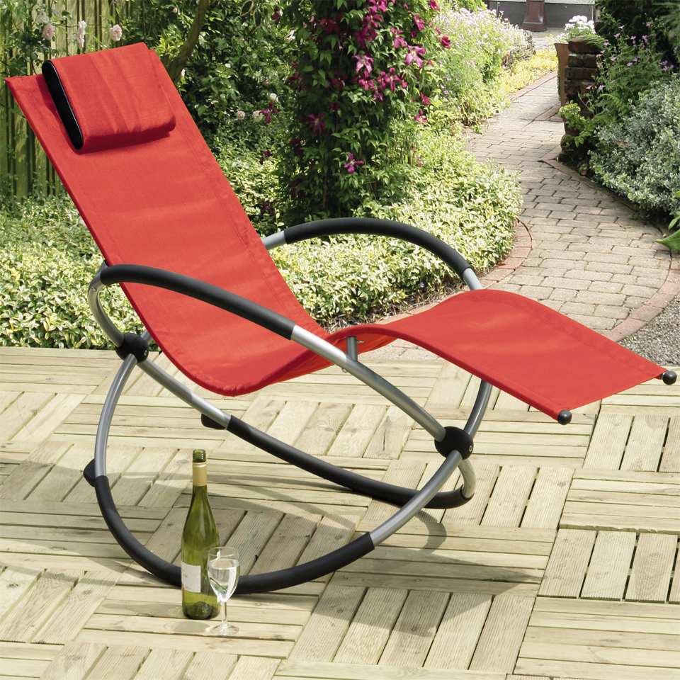 Orbit Red Relaxing Rocking Chair