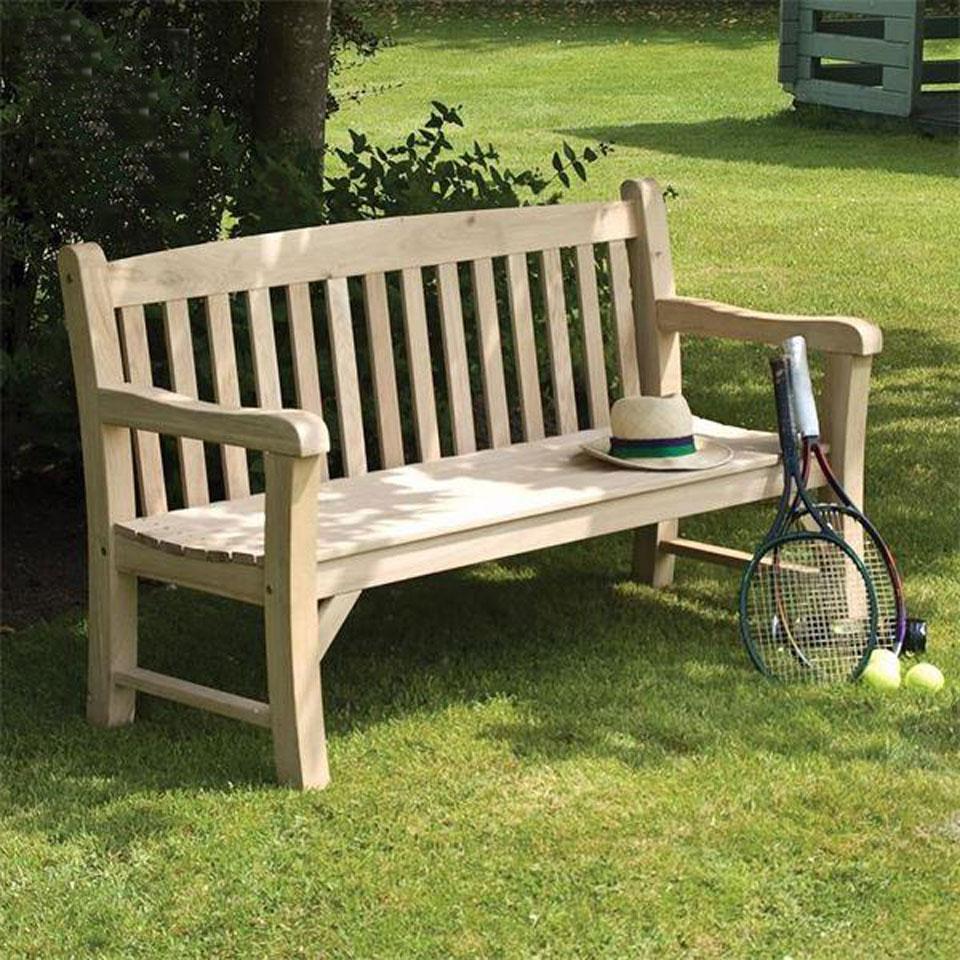 Collingwood 3 Seat Solid Oak Garden Bench