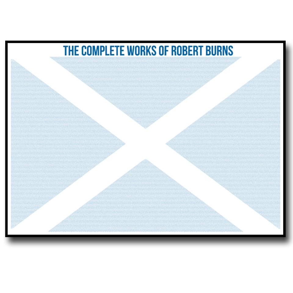 Complete Works of Robert Burns Text Wall Print