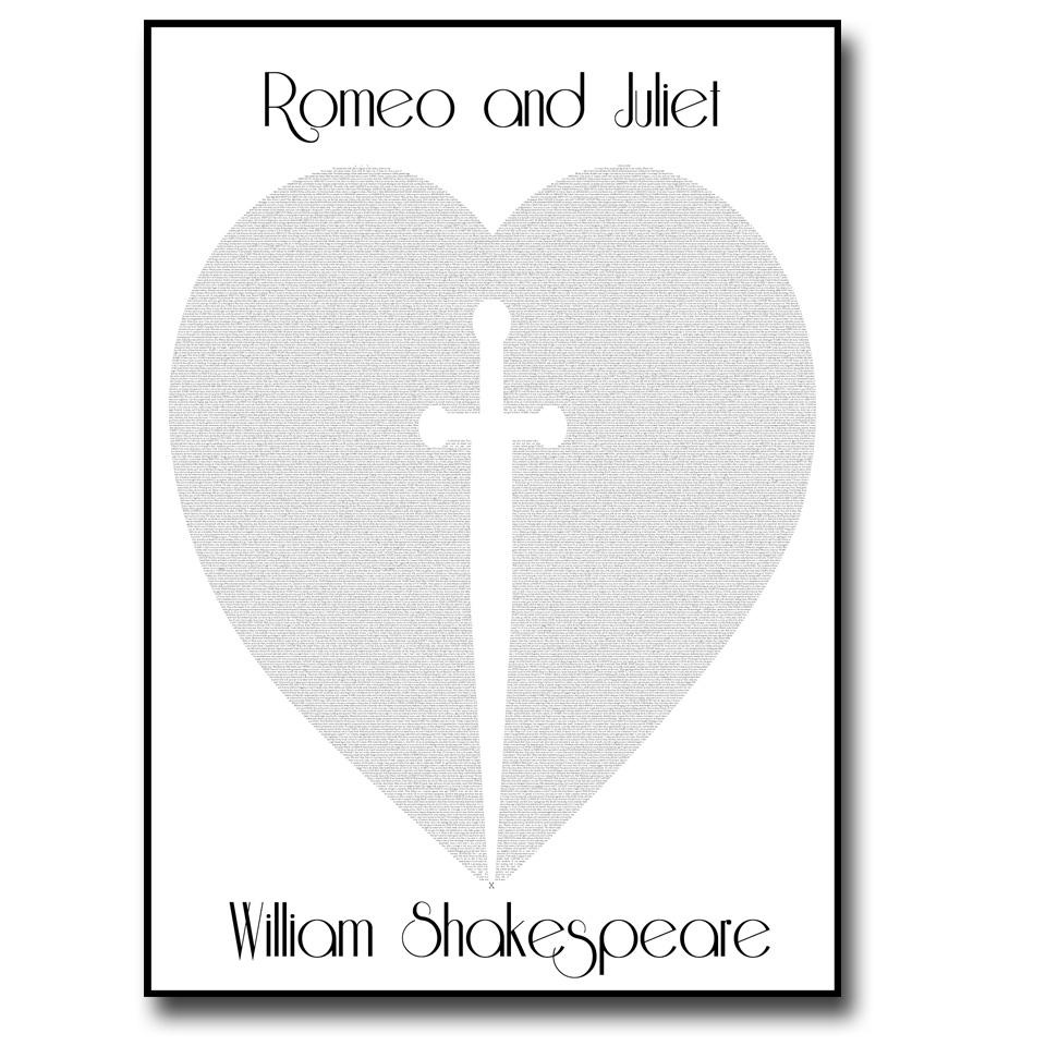 Romeo and Juliet Text Wall Print