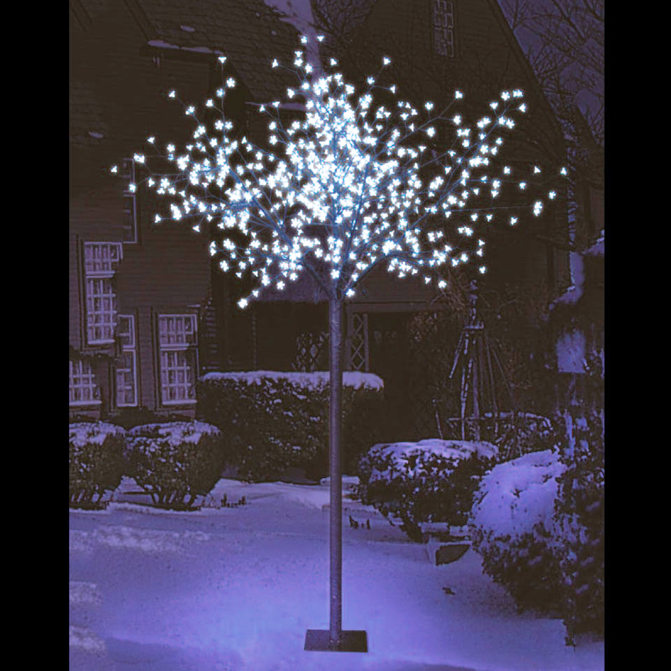 7ft 2in Cherry Blossom Tree with 600 Ice White LEDs