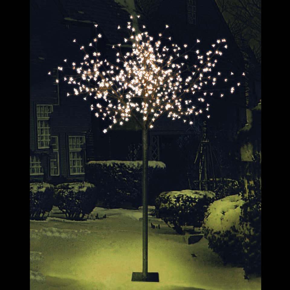 7ft 2in Cherry Blossom Tree with 600 Warm White  LEDs