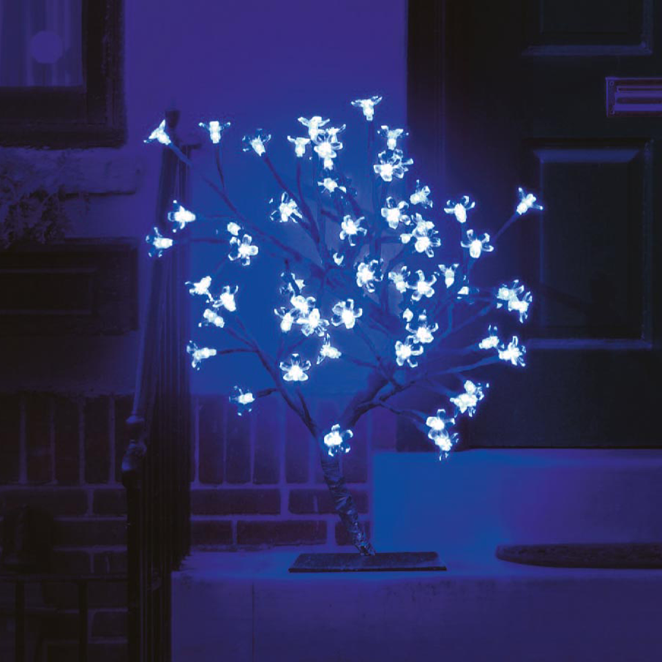 18in/45cm Cherry Blossom Tree with 40 Electric Blue LEDs