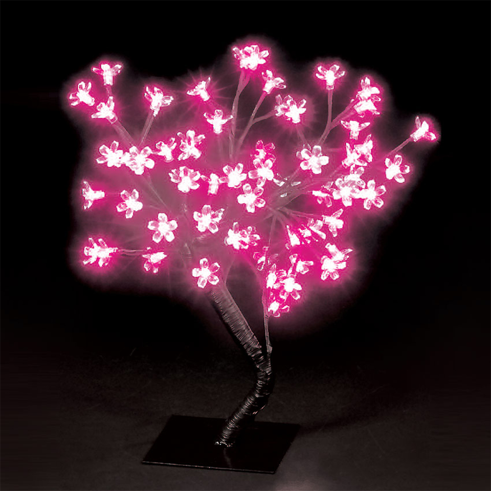 18in/45cm Cherry Blossom Tree with 40 Shocking Pink LEDs