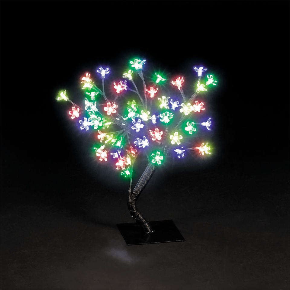 18in/45cm Cherry Blossom Tree with 40 Multi-Coloured LEDs