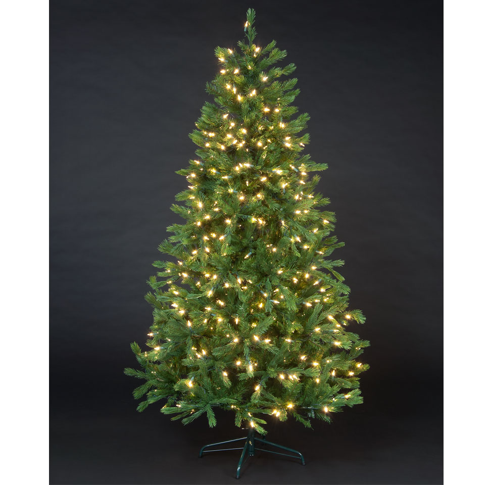 6ft Pre Lit Sabine Spruce Luxury Premium PE Christmas Tree
