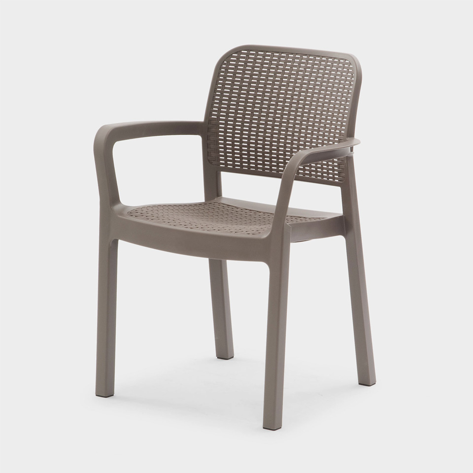 allibert samanna cappuccino dining chair