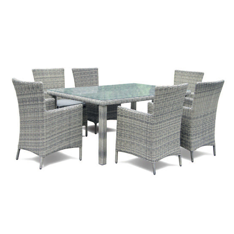 Sandringham 6 Seat Grey Patio Dining Set