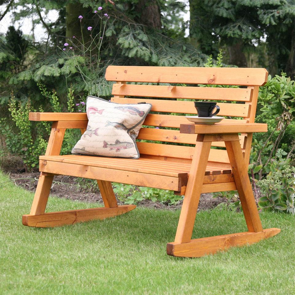 Worcester 2 Seat 4ft Rocking Garden Bench