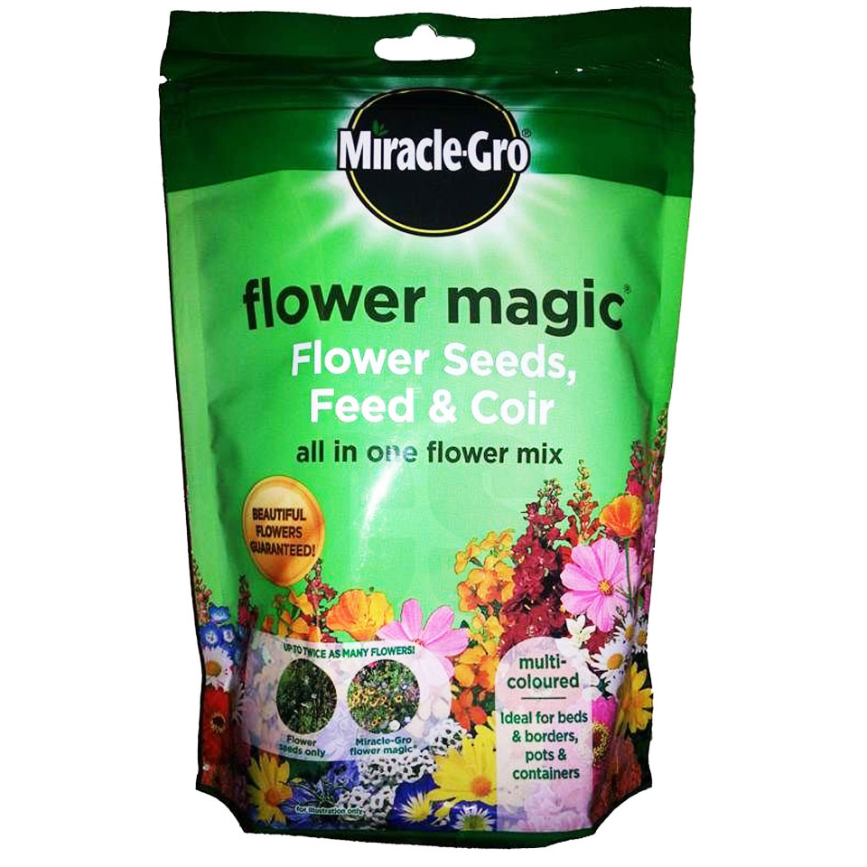 Scotts Miracle Gro Multicolour Flower Magic with Seeds, Feed and Coir 350g