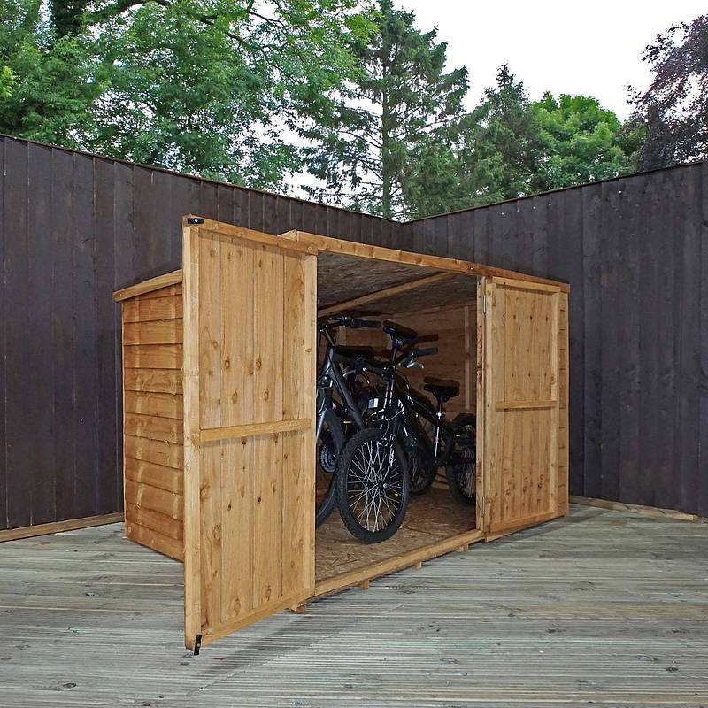 Image of 4' x 6' Overlap Pent Bike Store