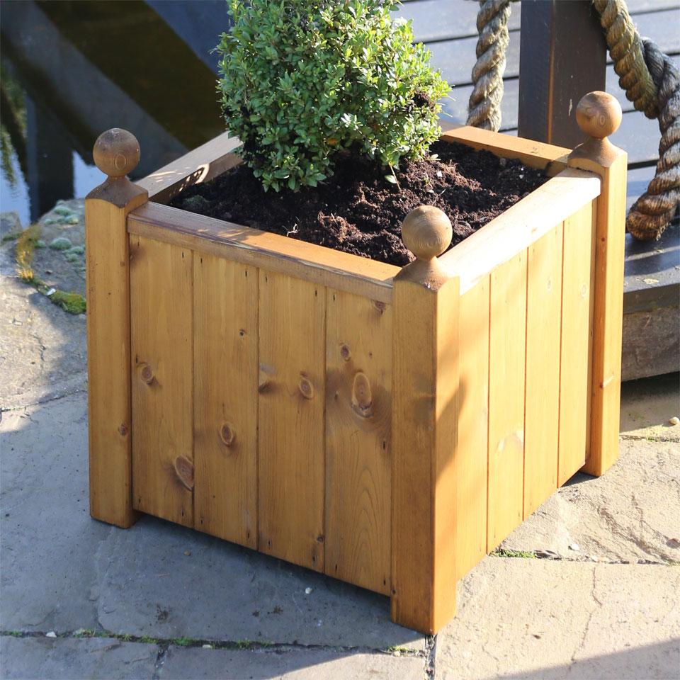 Sissinghurst Square Wooden Planter