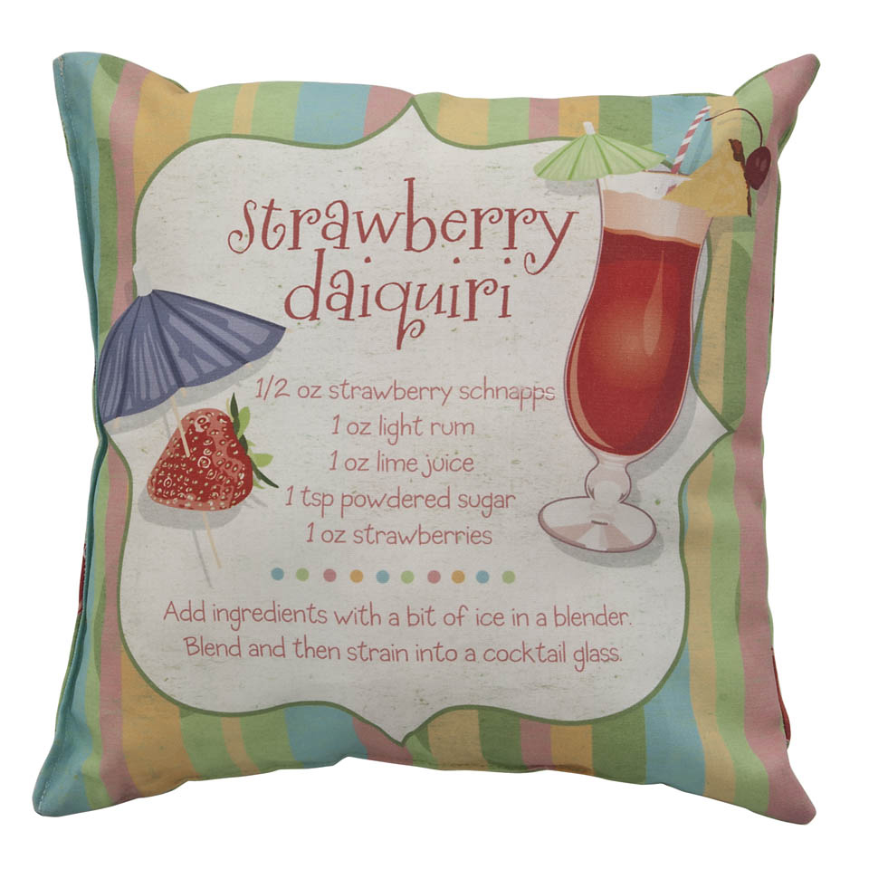 Strawberry Daiquiri Climaweave Weatherproof Outdoor Cushion