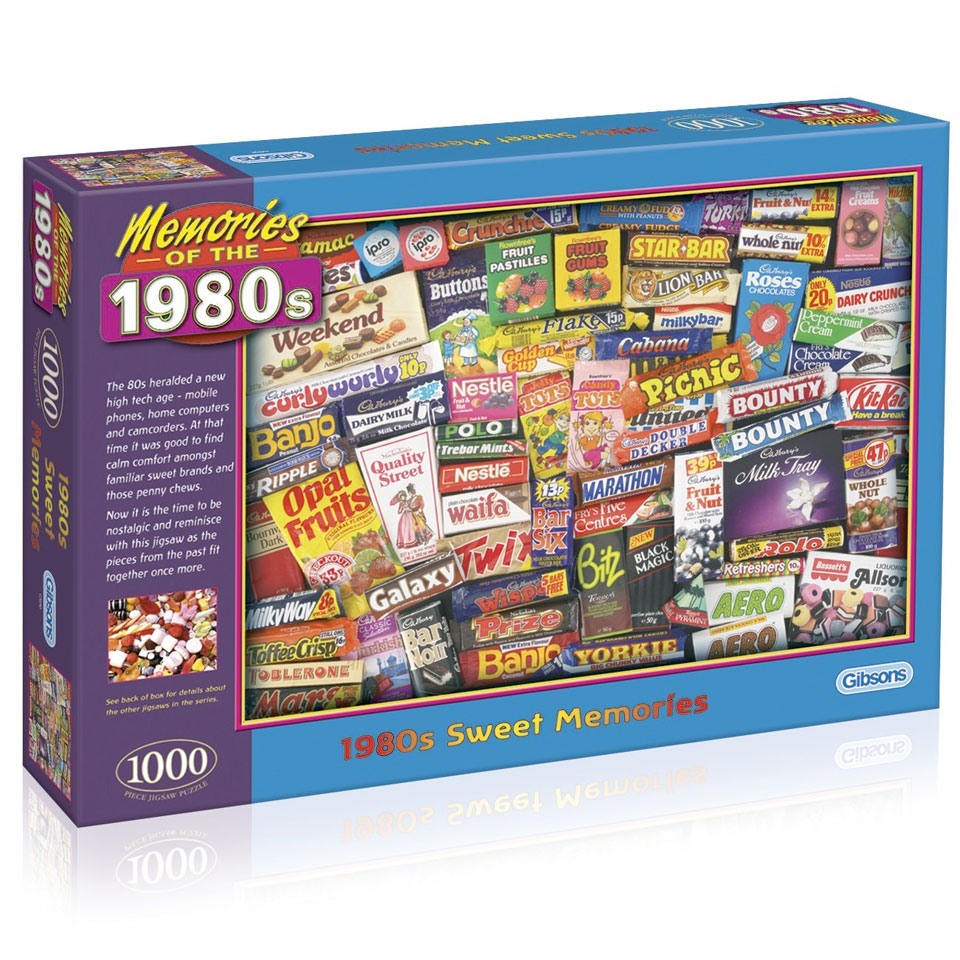 1980s Sweet Memories Jigsaw Puzzle 1000 Pieces