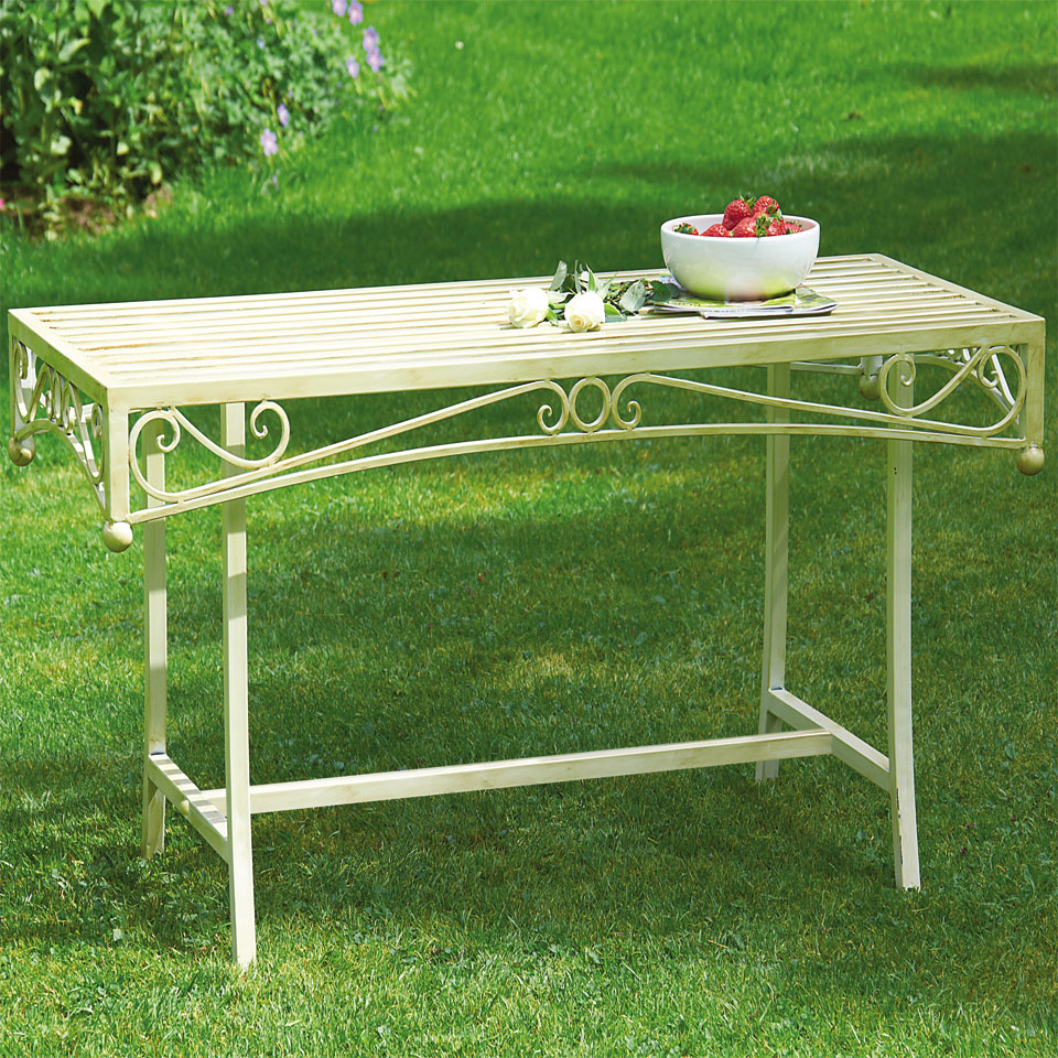 Versailles Antique Cream Iron Coffee Table
