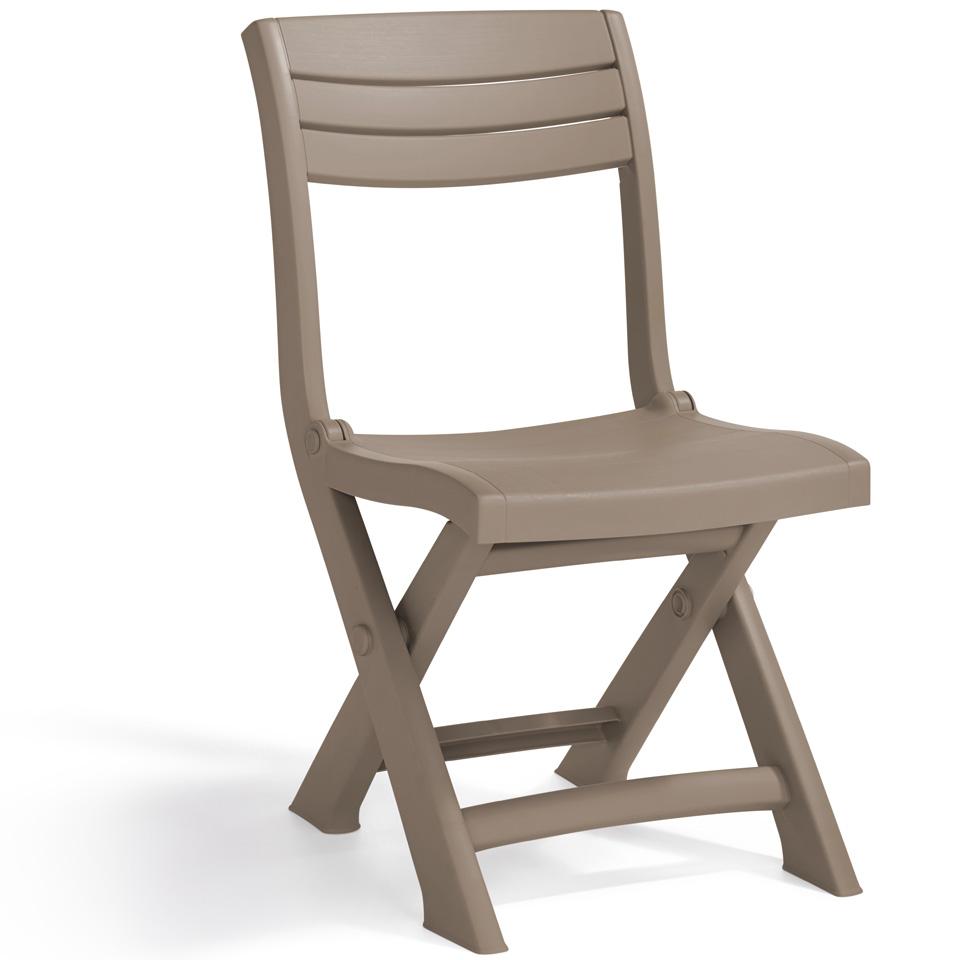 Allibert Tacoma Cappuccino Folding Bistro Chair