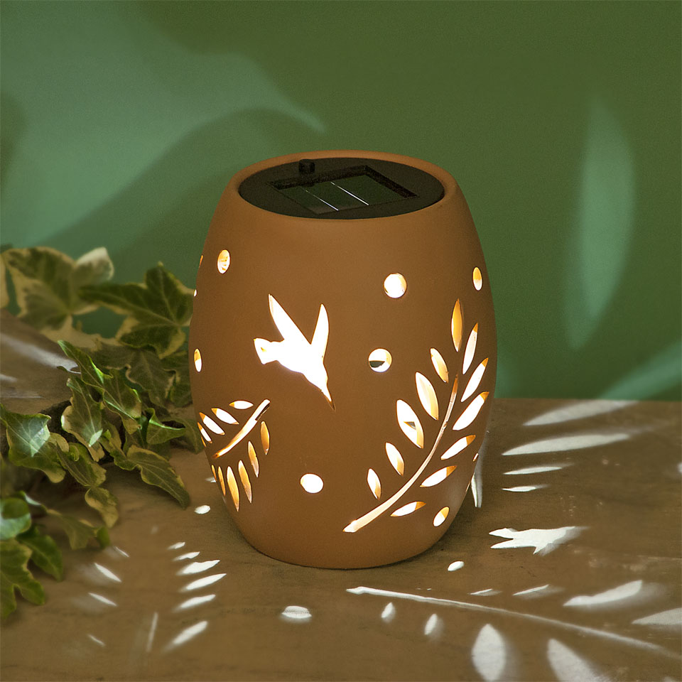 Garden Glows Solar Powered Terracotta Ceramic Garden & Table Light