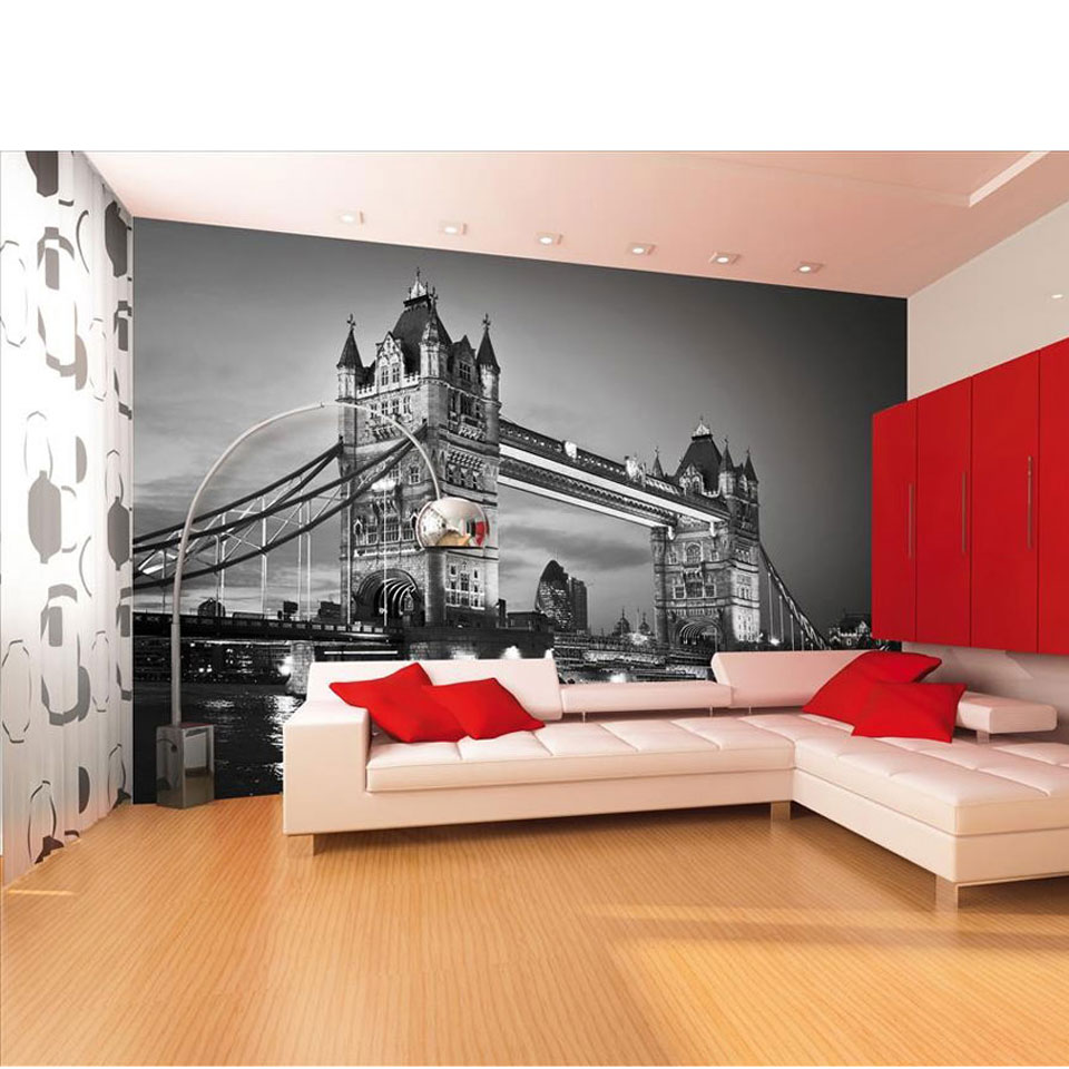 Monochrome London Tower Bridge Wallpaper Mural