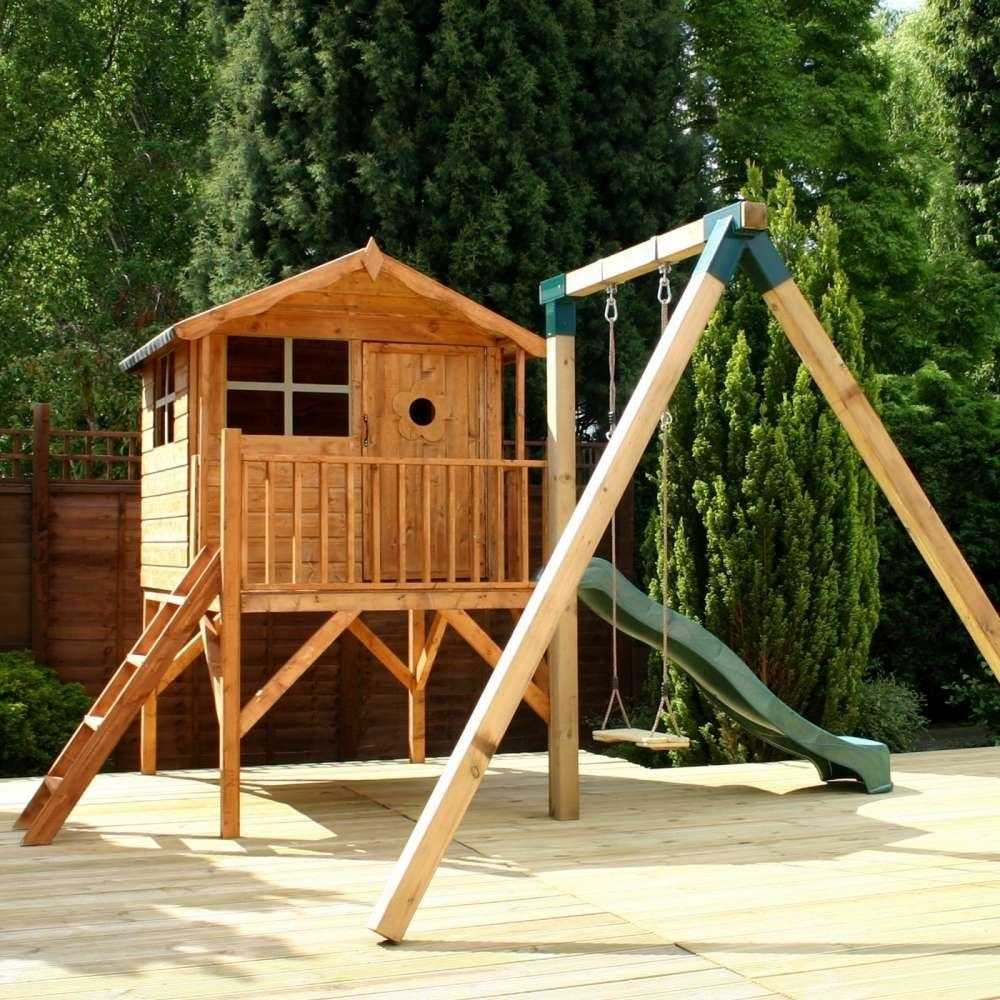 Tulip Playhouse with Tower, Slide and Activity Set