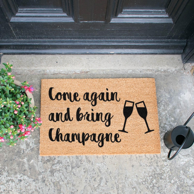 Image of Bring Champagne Door Mat